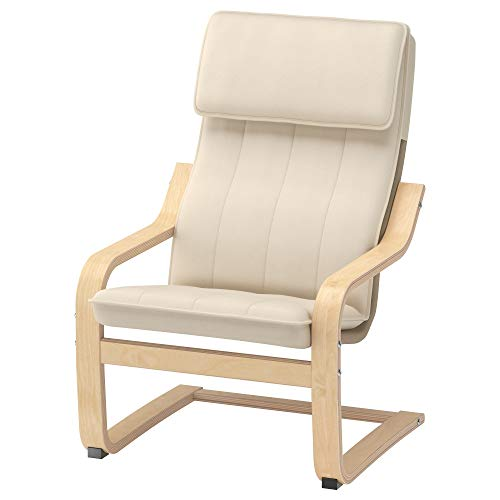 Ikea Poäng Children's Armchair, Birch Veneer, Almås Natural (Pool Ikea Furniture)