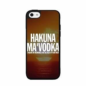 Hakuna Ma'Vodka Plastic Phone Case Back Cover iPhone 4 4s