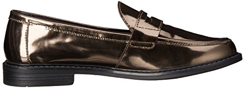 Cole Haan Womens Pizzico Campus Penny Loafer Argento Scuro / Metallico Specchio