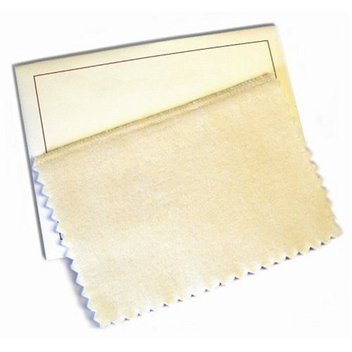 Hagerty 15792 6-by-8-inch Lasting Impressions Jewelry Polishing Cloth Tan
