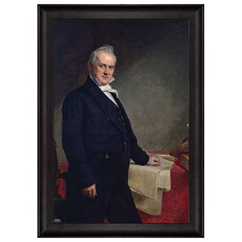 Portrait of James Buchanan by George Peter Alexander Healy (15th President of the United States) American Presidents Series Framed Art Print