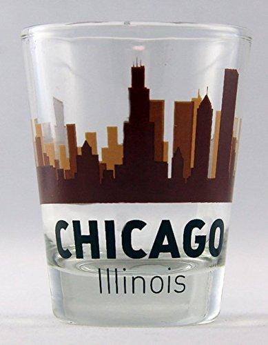 Chicago Illinois Sunset Skyline Classic Design Shot Glass