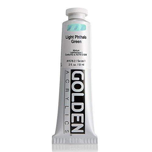 Golden Heavy Body Acrylic, 2 Ounce Tube, Light Phthalo Green (1578-2) -