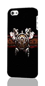 iPhone 5C 3d Case ~ Games World of Warcraft ~ ABCone Personalized Custom iPhone Plastic Phone Case Back 3D Rough Diy Cover for Iphone 5C