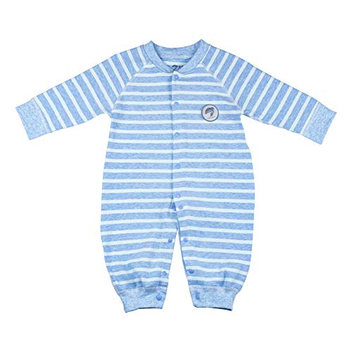 YECOOL Infant Boys Romper Onesies Stripe Pajamas Newborn Coverall Onesie Long Sleeve 0-3 Month Size Blue