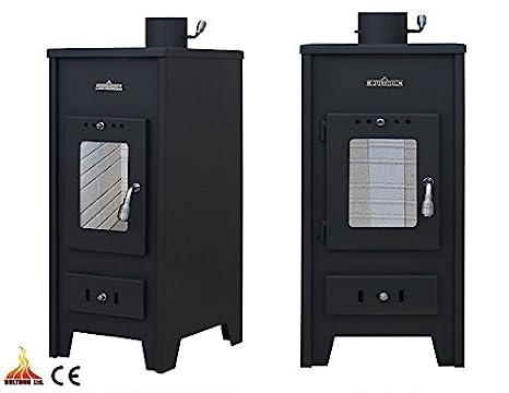 Estufa de leña con caldera calefacción Central madera maciza de combustible/ carbón 5 + 11 kW: Amazon.es: Bricolaje y herramientas
