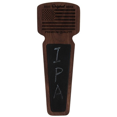 Handle Walnut American (Fanfoobi American beer tap handle large, Walnut wood kegerator tap handle with chalkboard, Best Original Beer, 8.5