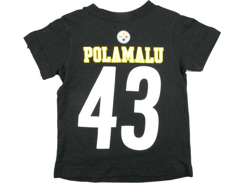 Outerstuff Troy Polamalu Pittsburgh Steelers Jersey Name And Number T-shirt Large 14/16