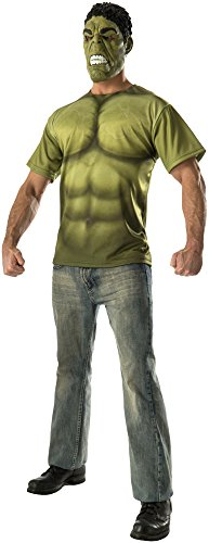 Rubie's Costume Co Men's Avengers 2 Age Of Ultron Adult Hulk T-Shirt and Mask, Green, X-Large