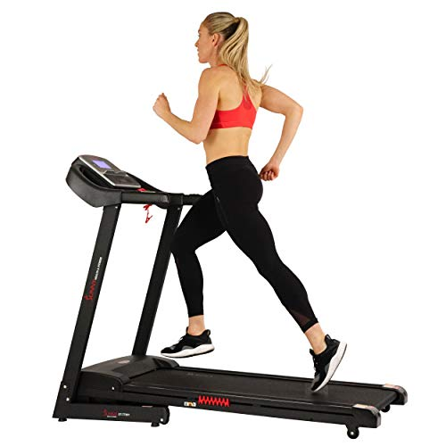 Sunny Health & Fitness Electric Treadmill with Auto Incline and USB Charging Function – SF-T7861