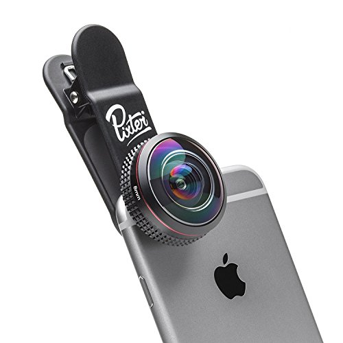 Pixter Super Fisheye - Pixter Premium Smartphone Lens [French Start-up] - Compatible iPhone 7/ 7 Plus/ 6s / 6s Plus / 6 / 5s, Samsung Galaxy S8 / S7, all smartphones