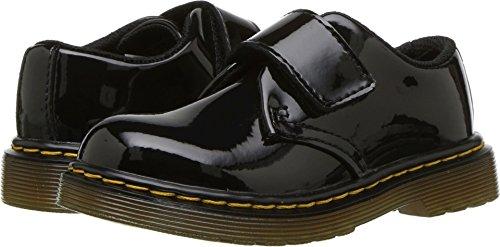 Dr. Martens - Unisex-Child Kamron T Strap Shoe, Size: 9 M US Toddler / 8 F(M) UK Youth, Color: Black Patent Lamper