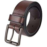 Dockers Men's Casual Leather Belt - 100% Soft Top Grain Genuine Leather Strap with Classic Prong Buckle