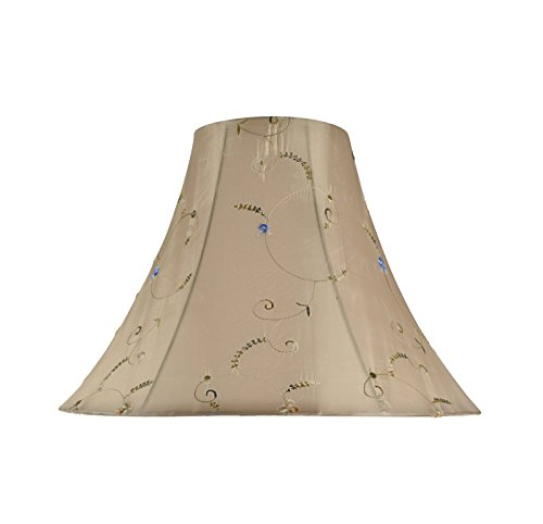 - Aspen Creative 30048 Transitional Bell Shape Spider Construction Lamp Shade in Gold, 16