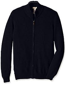 Dockers Men's Big-Tall Cotton Full Zip Solid Sweater, Deep Night, 3X/Big