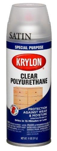 Krylon 7006 Clear Wood Special Purpose Aerosol, 11-Ounce, Polyurethane Gloss Finish by Krylon/Consumer Div