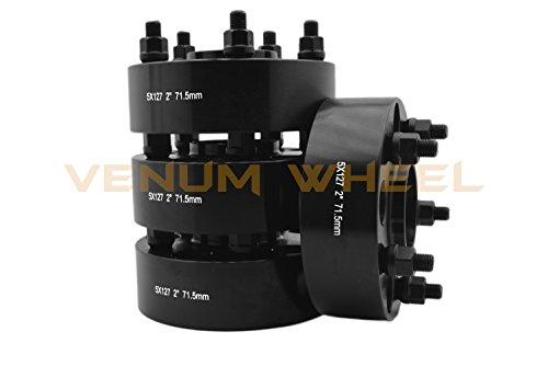 Jeep-Wrangler-JK-2-Wheel-Spacers-Hub-Centric-Black-5x5-5x127mm-2007-2016-All-Models