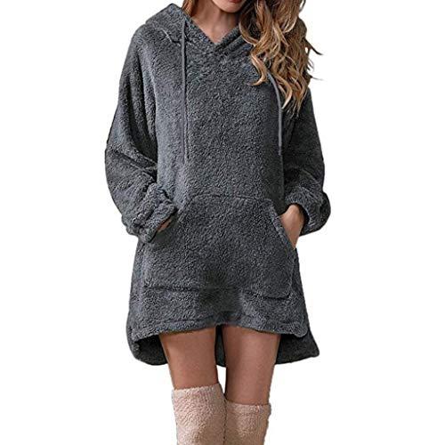 2019 Sweatshirt Dress Women Long Sleeve Solid