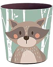PHYNEDI Papelera Oficina, Papelera para Niñas con Capacidad de 10 litros Fabricada en Cuero para Baño Cocina Cuarto de Los Niños (Ardilla)