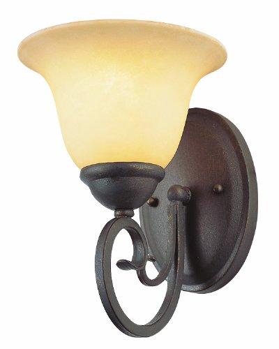 Trans Glob Lighting 6521 ABZ Trans Globe Lighting Indoor Laredo Wall Sconce, Antique Bronze, 9.25
