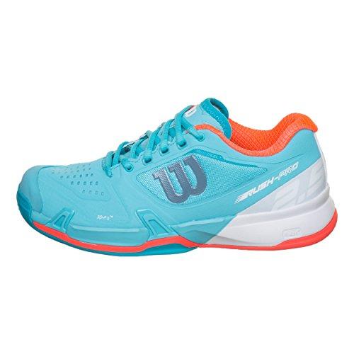 Femme De White Curacao Wilson blue Chaussures Pro Bleu 5 2 W Fiery Coral Rush 000 Tennis Clay 0zp0qRS