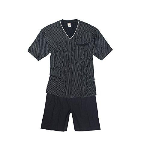 Kurzarm Schlafanzug in dunkelblau von Adamo bis Übergröße 10XL