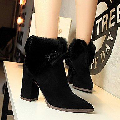 RTRY Zapatos De Mujer Suede Otoño Invierno Confort Bootie Botas De Tacón Chunky Señaló Toe Botines