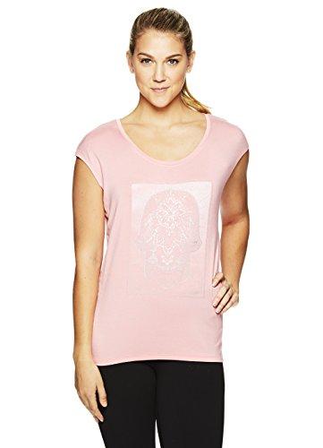 Gaiam Women's Dani Yoga Short Sleeve Graphic T-Shirt - Workout Top for Women - Conch Shell - Dani, X-Small