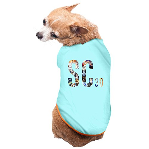 Best Throwback Costumes (ZULA Best Stephen #30 Curry SC30 Golden State Pet Dog T Shirt SkyBlue Size S)