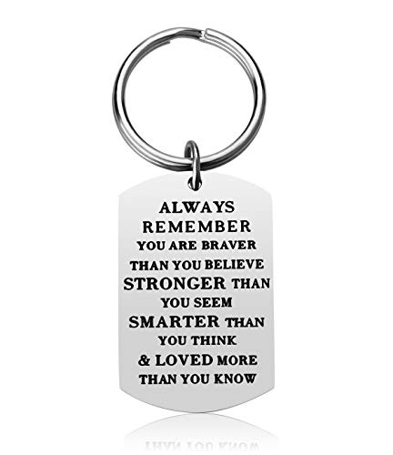 Birthday Gift Family Keychain - Stainless Steel Best Friend Unisex Gifts Motivational Jewelry Inspirational Key Chain for Graduation (Always)