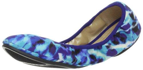 Neuf West Ballens Americana Ballet Plat Bleu Multi / Tissu Bleu