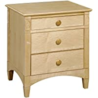 Bolton Furniture 6601N00 Essex 3-Drawer Nightstand, Natural