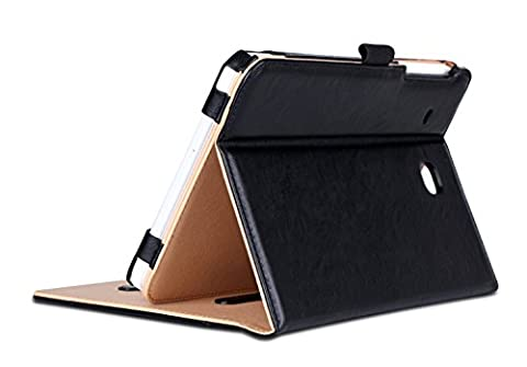 ProCase Samsung Galaxy Tab E 8.0 Case - Leather Stand Folio Case Cover for Galaxy Tab E 8.0 4G LTE Tablet (Sprint,US Cellular, Verizon, T-Mobile, ATT) SM-T377 (Black)