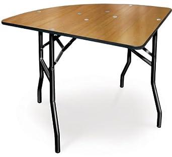 36 1//4 Round McCourt Manufacturing 36 1//4 Round Polycoat Finish with Vinyl Edge McCourt 70025 Plywood Folding Table