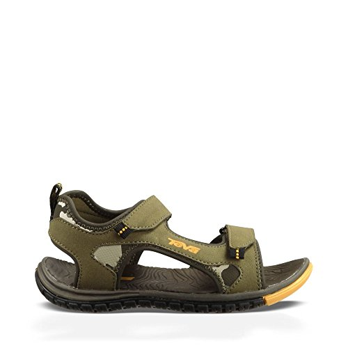 Teva Tanzium Kids Sport Sandal (Toddler/Little Kid/Big Kid), Olive/Camouflage, 10 M US Toddler