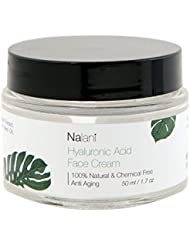 Nalani 100% Chemical Free Hyaluronic Acid Cream Moisturizer for Face and Neck with Avocado Oil & Banana Oil, 2oz