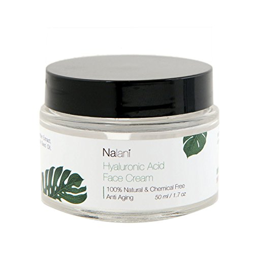 Nalani 100% Chemical Free Hyaluronic Acid Cream Moisturizer for Face and Neck with Avocado Oil & Banana Oil, 2oz (Avocado Oil For Face Before And After)