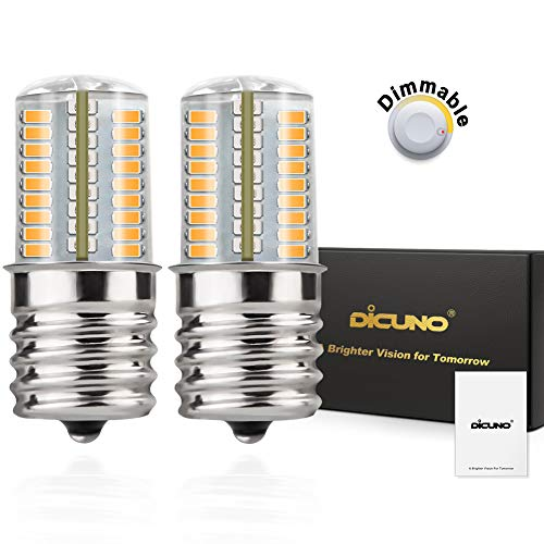 DiCUNO E17 LED Bulb Microwave Oven Light 4 Watt Dimmable Soft White 3000K 723014SMD AC110-130V (2-Pack) ()