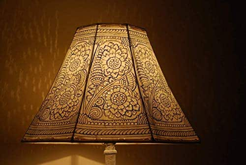 Amazon Com Vintage Inspired Lampshade Hand Painted