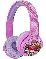 OTL Technologies LOL Glitterati Club Junior Bluetooth-headset, draadloos, voor kinderen (officieel gelicentieerd product), roze