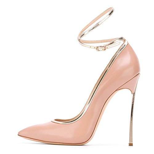 Court Toe High Stiletto Heels Pointed pink Shoes Onlymaker C Bowknot Women's Metal Sexy O6nHqz