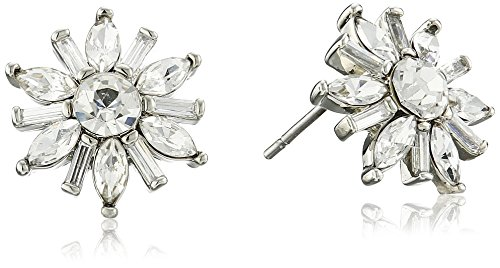 Carolee Crystal Basics The Brianna Deco Floral Button Pierced Stud (Carolee Round Earrings)