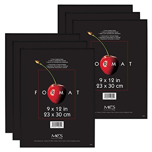 MCS 9x12 Inch Format Frame 6-Pack, Black (65645) by MCS
