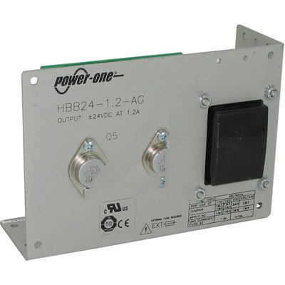 """Power-One HBB24-1.2-AG Power Supply; AC-DC; 24V@1.2A, -24V@1.2A; 100-264V In; Open Frame; Panel Mount; Linear"""