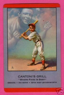 RARE 1953 Babe Ruth Original Baseball Playing Card