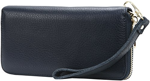 iswee-rfid-blocking-womens-leather-zipper-closure-wristlet-slim-wallet-card-case-purse-clutch