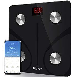 Bascula de Baño Digital Grasa Corporal, RENPHO Balanza Bluetooth Inteligente con App, Bascula Electrónica Analógica… 41ehto0TCOL