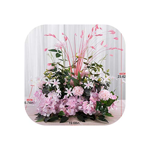 (YA-HAN Artificial Flowers for Wedding Wall Arrangement Supplies Silk Peonies Fake Flower Row Arch Backdrop Decor,Pink A,100cm )
