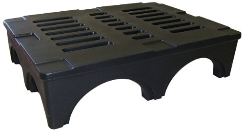 Forte Products 8002030 SureStack Plastic Dunnage and Storage Rack, 3500 Lb. Load Capacity, 48'' L x 36'' W x 12'' H, Black by Forte Products (Image #1)