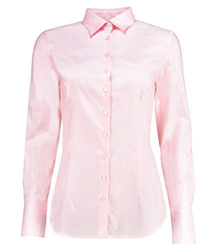 694fe8dd3cb4d HAWES   CURTIS Womens Executive Light Pink Twill Fitted Shirt - Single Cuff  - Buy Online in Oman.